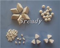 昆山金属冲压件去毛刺用白刚玉研磨石 粗磨料 抛磨块 刚玉磨料 抛磨料 研磨材料