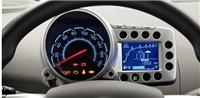 供應電動車儀表用LCD液晶屏,帶彩色絲印