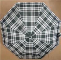 深圳雨伞厂家消费九合板三折伞 21寸英伦格子遮阳伞 特价伞