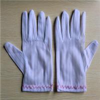 厂家批发防静电条纹手套|防静电点胶手套|无尘手套。