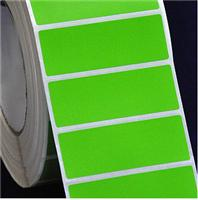 70 * 25 * 1000 green staining adhesive coated paper barcode bar code stickers