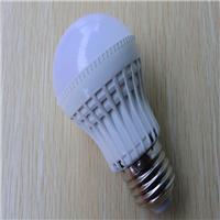 厂家直销LED塑胶球泡灯,3W恒流电源驱动E27螺口节能灯。
