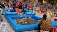 单层儿童充气沙滩池和双层海洋球池 一体组合充气池子 厂家定做