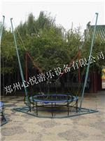 蓝色钢架蹦极新春大酬宾处理儿童钢架蹦极床单人跳跳床