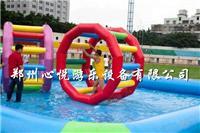 水上跑步机 彩色充气滚球 大型水上乐园 儿童小型水上风火轮
