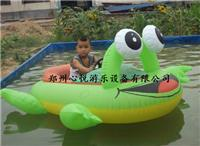 儿童夏日水上游戏 水上碰碰船/电瓶船 青蛙造型卡通电瓶船价格