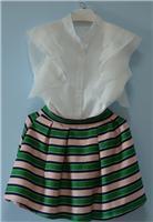 韓國代購歐美復古仿真絲高腰蝴蝶結裙式短褲套裝