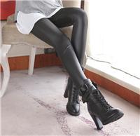 新款夏款打底褲批發女裝糖果色網紗印花彈力七分打底褲批發好品質