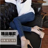 2014新款牛仔長褲女水洗藍色小腳褲修身彈力韓版女士鉛筆褲批零