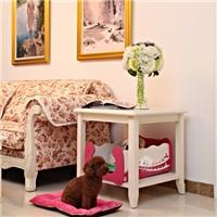 亮色木制宠物屋床|敞开式狗床狗笼|母狗公狗宠物床|宝贝狗床猫床