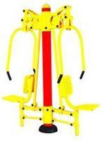 四川室外健身器材批发 双人坐推 双人坐式推力器 双人坐推器