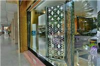 Hotel black titanium stainless steel screen porch screen door entrance image mall decoration