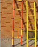 弘恒厂家直销加厚梯子铝合金绝缘人字梯绝缘梯玻璃钢梯价格便宜