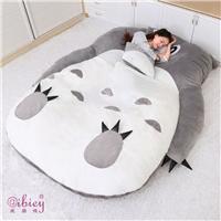 动漫龙猫床 懒人沙发榻榻米 毛绒可折叠床垫 儿童卡通床褥 塌塌米