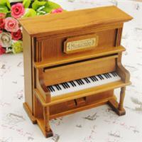 【厂家批发】钢琴八音盒 木制工艺品 圣诞礼品 立式钢琴音乐盒