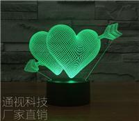 送女生台灯的含义情人节畅销的3D小夜灯创意无处不在