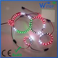 WS2812B圆环可控制圆圈简约个性时尚创意环形装饰灯 全彩车灯