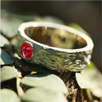 S925纯银饰品 高端时尚宝石戒指 广州银饰加工定制