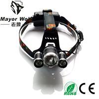 供应厂家批发 30w大功率强光头灯 强光充电头灯户外探明狩猎打