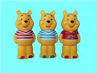 小熊存钱罐厂家批发,儿童搪胶储蓄罐小熊摆件OEM生产定制