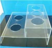 郑州有机玻璃制品定制透明双层五孔亚克力饮料陈列架 饮料展示架
