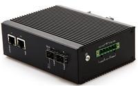 百兆1光2電工業級光纖收發器防雷防靜電