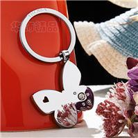 创新生日礼物蝴蝶镶钻金属创意钥匙扣高档包邮礼品钥匙扣