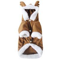 秋冬宠物衣服 cosplay圣诞装摇粒绒麋鹿狗狗变身装 小奶狗衣泰迪
