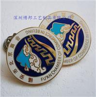 深圳高档景泰蓝徽章制作厂家印刷胸章定制价格