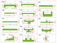产品输送用绿色工型垫条_w94耐磨条 u型垫条各种型号尺寸齐全