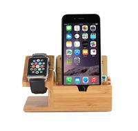 木制品苹果wath手表充电支架 苹果手机竹木质充电支架