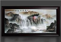 风水瓷板画定制厂家_景德镇生产瓷板画厂家_万业陶瓷厂