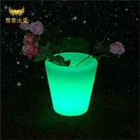 厂家新品LED发光家具LED花盆冰桶办公室酒吧商场PE外壳七彩遥控