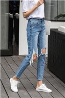 安徽合肥有韩版时尚女装牛仔裤批发厂家尾货低至5块牛仔裤批发