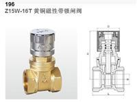 广州埃美柯196黄铜磁性带锁闸阀Z15W-16T