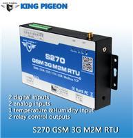 S270 GSM远程模拟量采集 数字量采集 温湿度采集 继电器控制报警终端