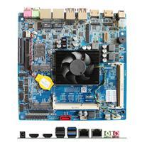 大唐工控主板DT5200-A酷睿i5 5200U双HDMI LVDS点屏4k低功耗ITX主板17*17工业主板