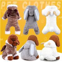 狗狗衣服泰迪比熊博美小型犬幼犬麋鹿圣诞装宠物四脚衣厂家批发