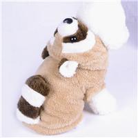 秋冬新款珊瑚绒浣熊狗狗变身装加厚宠物棉服宠物圣诞衣服批发