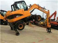 犀牛85-9輪式挖掘機 抓木機 抓甘蔗的挖掘機 90輪式挖掘機