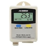 omega手持/掛壁式單通道溫濕度記錄儀OM-HL-SH-TH