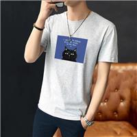 海南三亞便宜男裝短袖外貿訂單尾貨韓版寬松半袖純棉圓領T恤批發