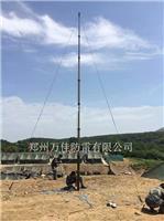 無線綜合通信車升降桿避雷針,小型自動氣象站升降桿防雷針,車載軍綠色用方艙10米手動升降桿