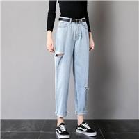 工廠**牛仔褲杭州市有5元牛仔褲批發地攤尾貨牛仔褲