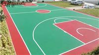 常德室外塑膠籃球場材料生產廠家-公園彩色球場施工方案