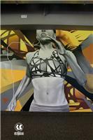 健身房彩绘壁画设计,不一样的装修效果