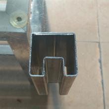 玻璃用40*40?#22841;?#31649;、镀锌凹槽管加工