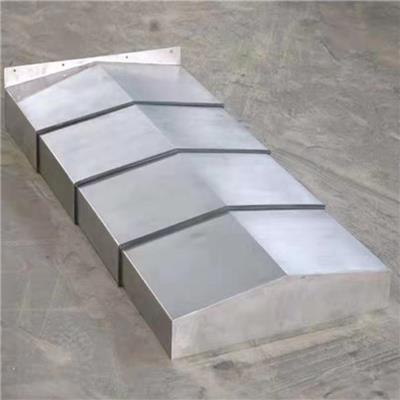 數控機床伸縮式鋼板防護罩伸縮式鋼板導軌防護罩不銹鋼防護罩
