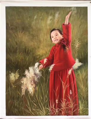 桂林肖像油畫