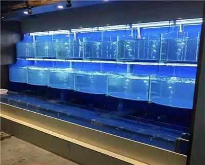 佛山*提供各种规格的鱼池定做半圆形鱼缸圆形海鲜池酒店海鲜酒楼产品